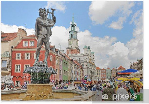 Plakát Tržní náměstí, Poznaň, Polsko - Témata