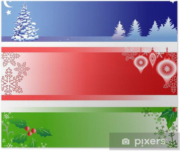 Plakat Trzy banery Boże Narodzenie z miejsca kopiowania - Święta międzynarodowe