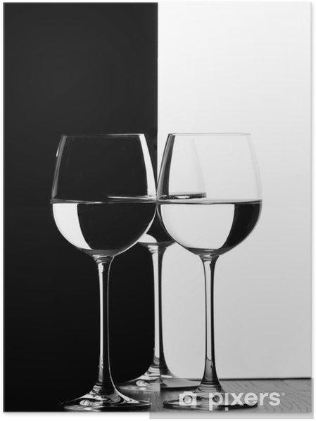 Plakat Trzy kieliszki do wina - Akcesoria