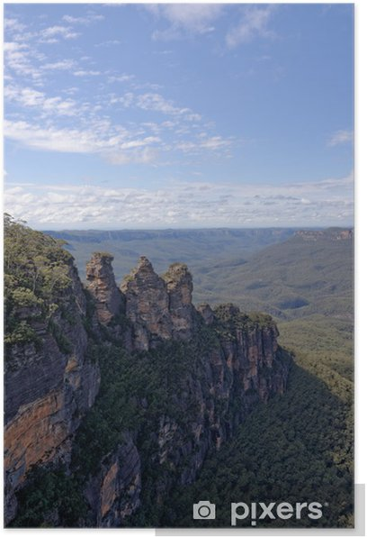 Plakat Trzy siostry w Blue Mountains Australii - Oceania