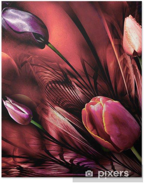 Plakat Tulipany abstrackt - Tematy