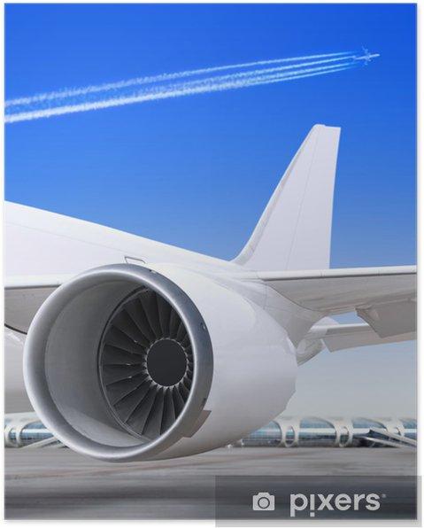Plakat Turbiny do samolotu - Transport powietrzny