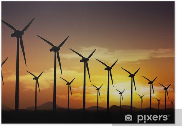 Plakat Turbiny wiatrowe - Młyny i wiatraki