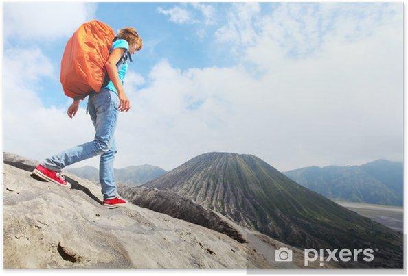 Plakát Turista s batohem - Asie