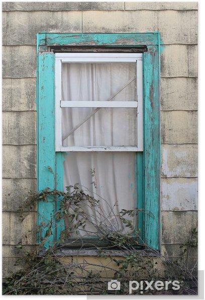 Plakat Turkusowy okno - Ubóstwo
