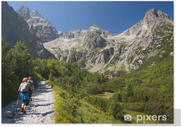 Plakat Turyści w schronisku w Zelene Pleso, Wysokie Tatry, Słowacja - Tematy