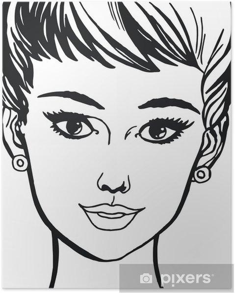 Plakat Twarz pięknej kobiety -