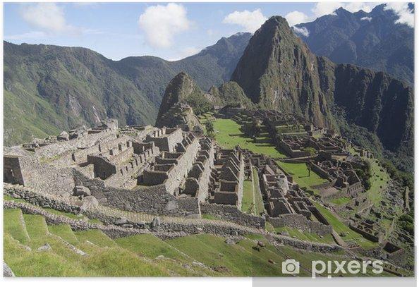 Plakat Typowy widok na Machu Picchu - Tematy