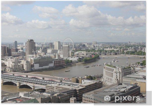 Plakat Uk london - widok panoramiczny - Pejzaż miejski