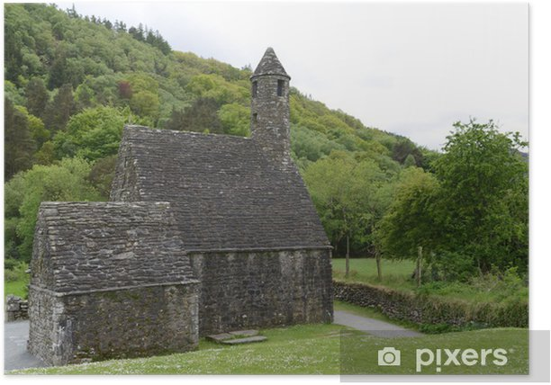Plakat Ul. Kevina kaplica w Glendalough - Europa