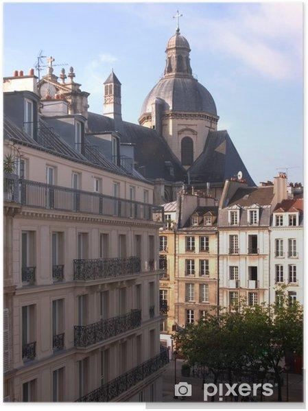 Plakat Ulica sceny paryskie - Miasta europejskie