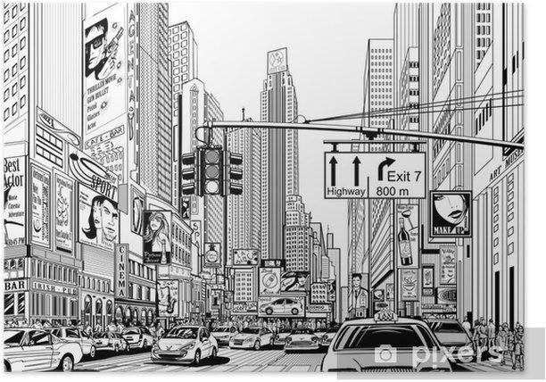 Plakat Ulica w Nowym Jorku - Pejzaż miejski
