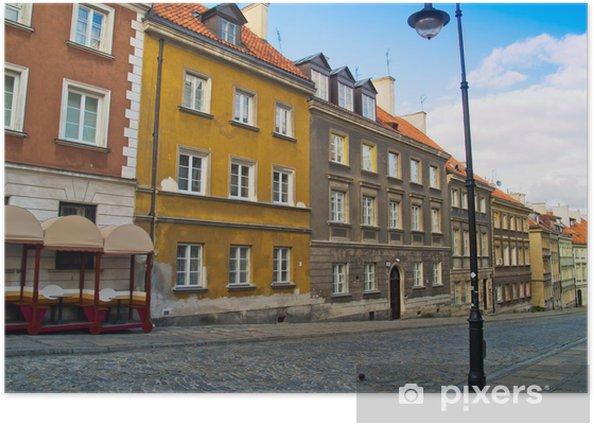 Plakát Ulice starého města, Varšava, Polsko - Témata
