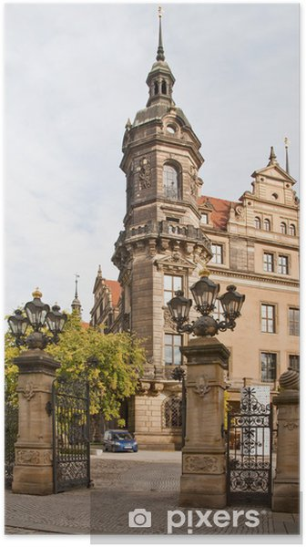 Plakat Ulice w Dreźnie - Budynki prywatne