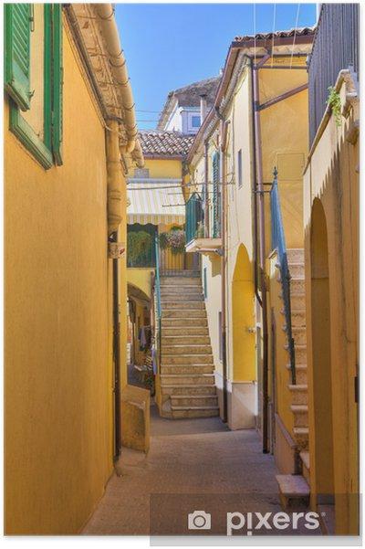 Plakát Ulička. Sant'Agata di Puglia. Puglia. Itálie. - Témata