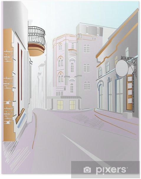 Plakat Ulicy miasta - Wakacje