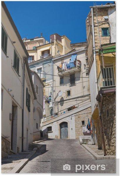 Plakat Uliczka. Sant'Agata di Puglia. Puglia. włochy. - Tematy