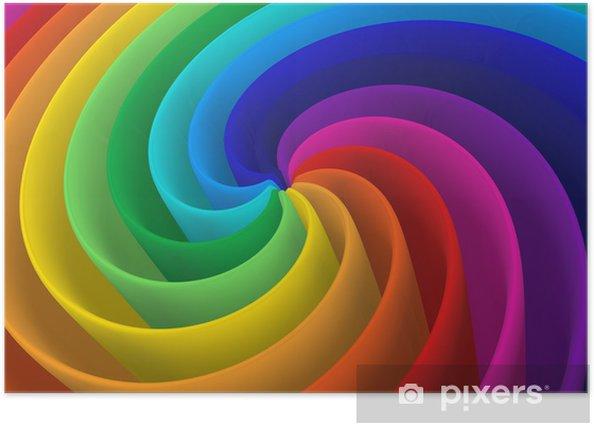 Plakát Umělecký rainbow barevné spirála moderní konstrukce pozadí - Styly