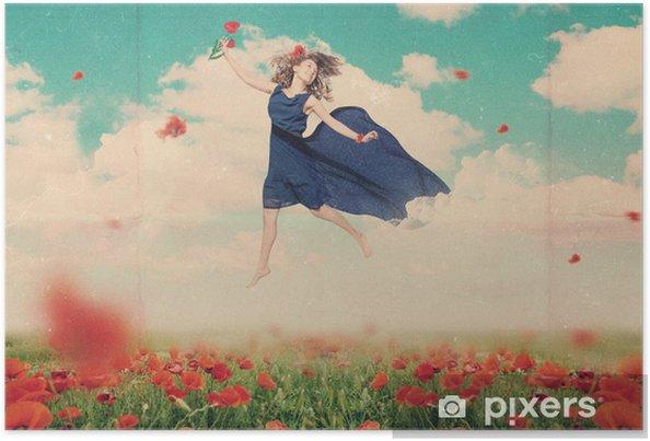 Plakát Umění koláž s krásnou ženou - Žena