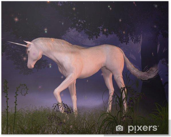 Plakat Unicorn w Misty Forest Glade - Inne uczucia
