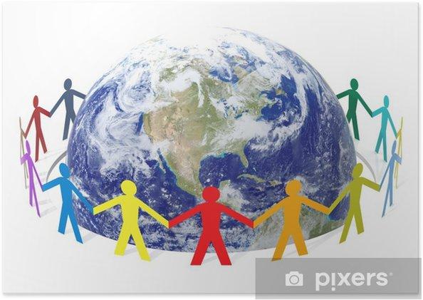 Plakat Uratuj świat - Ludzie