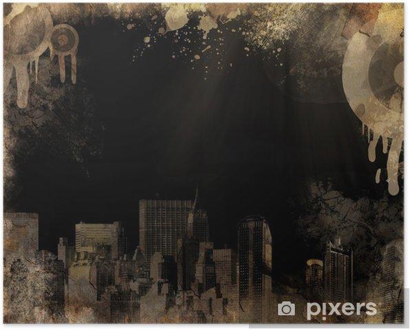 Plakat Urban grunge - Tła