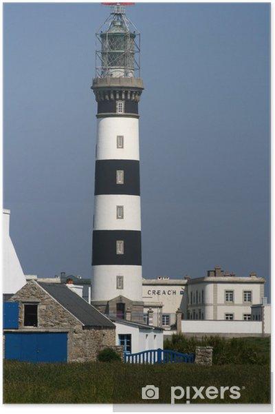 Plakat Ushant latarnia, latarnia morska, Ouessant, Creac'h, Bretania, Finistere - Życie