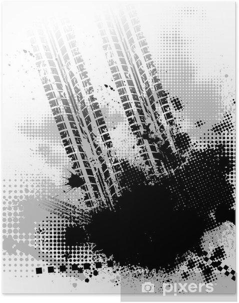 Plakat Utwór opon czarne tło - Tła