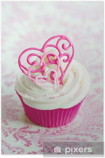 Plakat Valentine Cupcake - Święta międzynarodowe