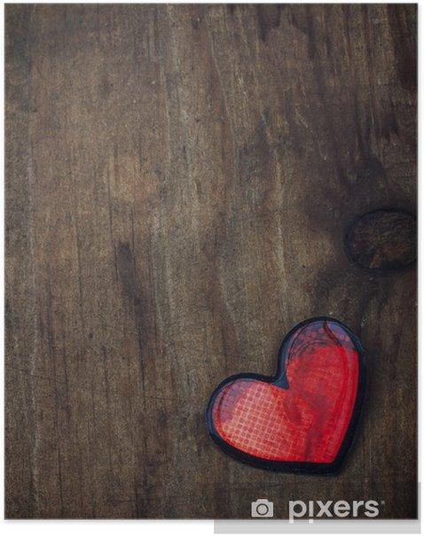 Plakat Valentine serca grungy - Święta międzynarodowe