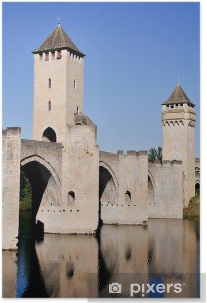 Plakát Valentre most v Cahors, Francie - Evropa