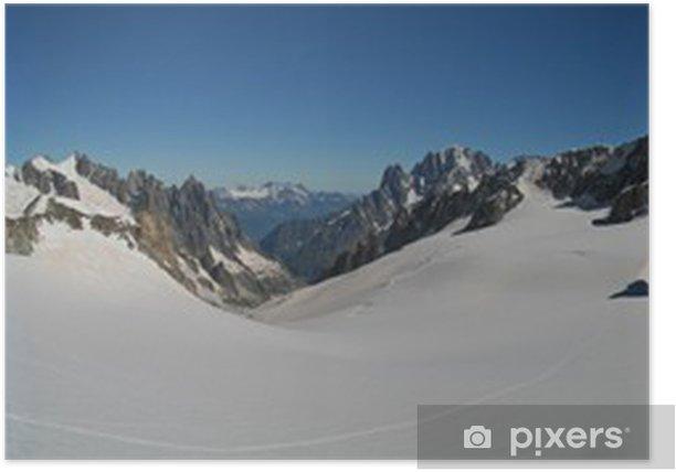 Plakat Vallée Blanche i Aiguille du Midi - Europa