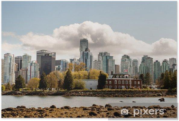 Plakát Vancouver od Stanley Park - Amerika