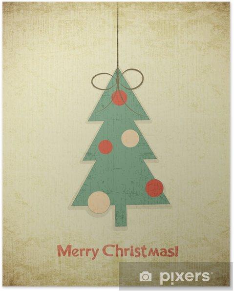 Plakát Vánoční stromeček - Svátky