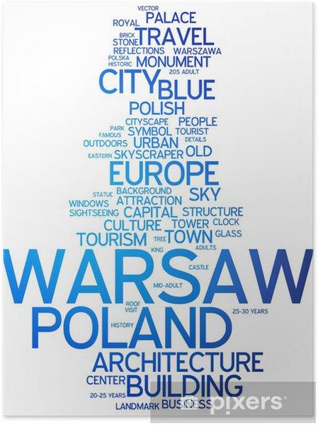 Plakát Varšava, Polsko - Témata