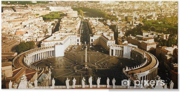 Plakát Vatikán náměstí svatého Petra - Evropská města
