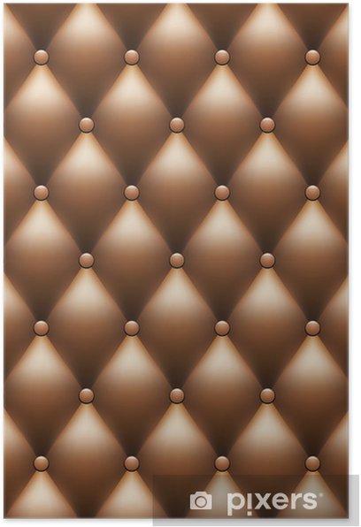 Plakat Vector brązowym tle skórzana tapicerka - Tła