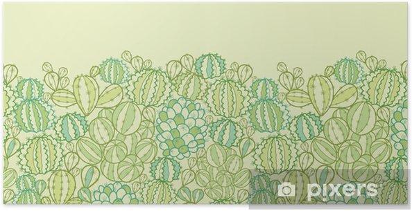 Plakát Vector kaktus rostliny textury horizontální bezešvé vzor - Značky a symboly