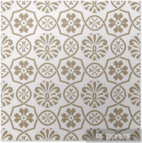 Plakát Vektorové bezešvé papír vyjmout květinovým vzorem, indická styl - Pozadí