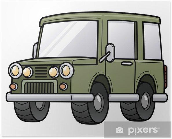 Plakat Vektorove Ilustrace Kreslene Auta Pixers Zijeme Pro Zmenu