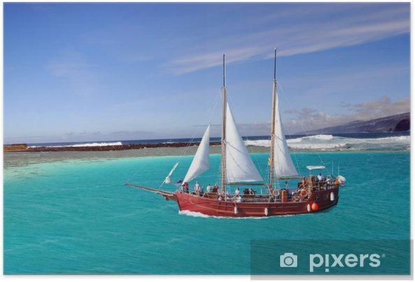 Plakat Veliera w zatoce - Transport wodny