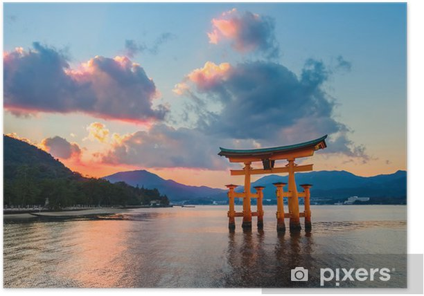 Plakát Velká floating gate (O-torii) na Miyajima - Témata
