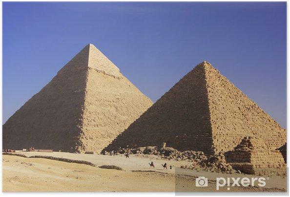 Plakát Velké pyramidy v Gíze, Káhira - Afrika