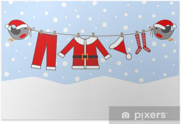 Plakát Veselé vánoce - Roční období
