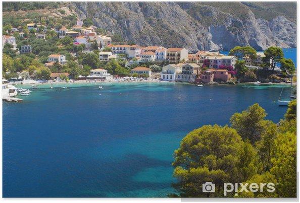 Plakát Vesnice Assos na ostrově Kefalonia v Řecku - Evropa