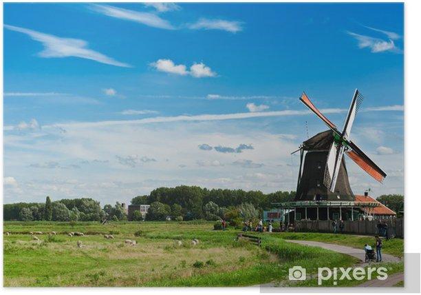 Plakát Větrný mlýn krajiny - Evropa