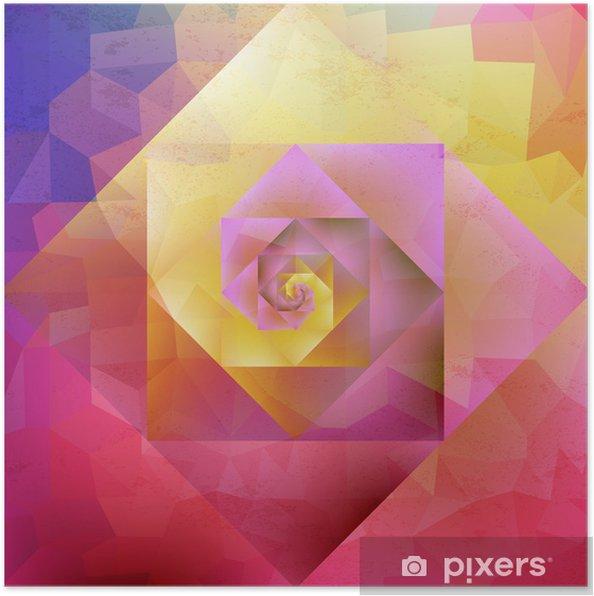 Plakát Vibrující vinobraní optic art geometrický vzor - Témata