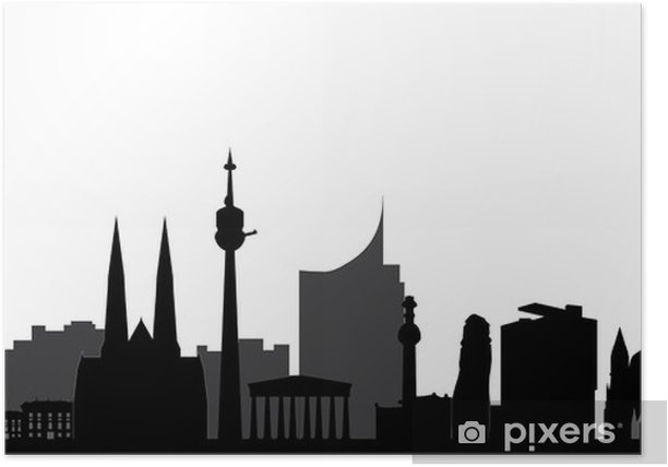 Plakát Vienna panorama - Soukromé budovy