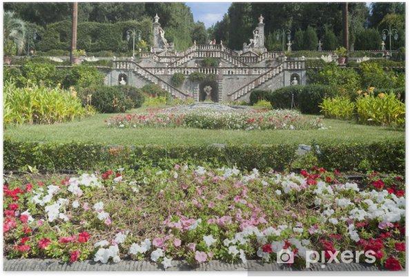 Plakát Villa Garzoni, Toskánsko, Itálie - Evropa