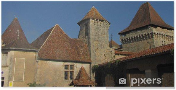 Plakát Village et Château de Varaignes; Limousin, Périgord - Památky